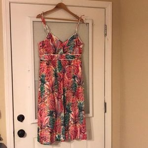 J.Crew Ratti pineapple Spaghetti-strap dress
